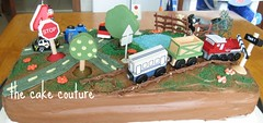 """6. """"Town view"""" Cake (The Cake Couture (is currently not taking any orde) Tags: party horse flower tree cake train children town view chocolate vanilla  doha qatar                                  thecakecouture"""