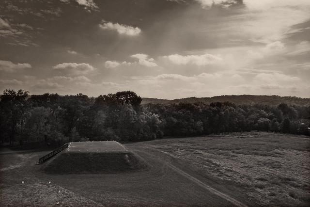 Etowah Indian Mounds, Mound B Viewed from Mound A