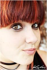 (Ratatu) Tags: girl smile face canon eos eyes punk chica retrato piercing teenager protrait 16 sonrisa boca mirada 450 clase timida expresion