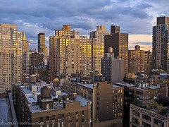 NYC Canyon (scottdunn) Tags: nyc sunset newyork cityscape manhattan gothamist hdr goldenhour cityview scottdunn notkap 307seventhavenue