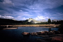 Tuolumne (clarkmackey) Tags: blue mountains water clouds river yosemite velvia100 xa4 tuolumne lateafternoon