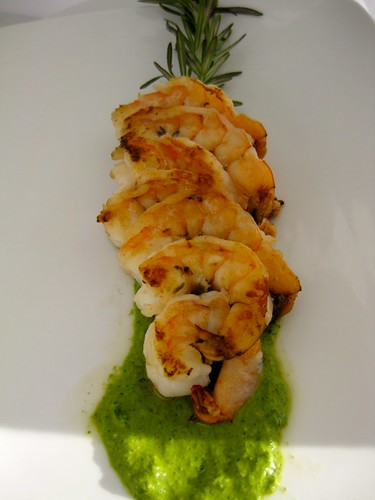 Grilled Rosemary Shrimp + Herb Pesto