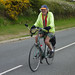 Top of the big hill before dropping into Borth, Jerry