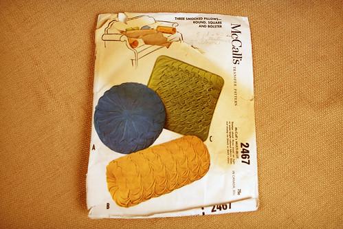 Vintage Smocked Pillow Pattern