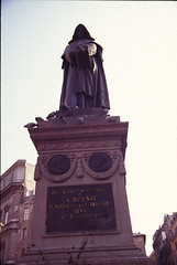 Sculpture of Giordano Bruno: general front view (Penn State Libraries Pictures Collection) Tags: squares monuments openspaces