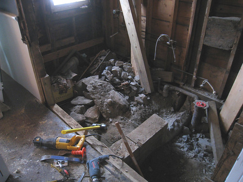 Gutted Bathroom