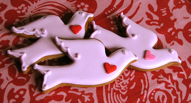 Love Bird Valentine Cookies