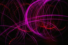 pink redness (caffeina) Tags: longexposure pink light red lightpainting color night diy circles led blinking