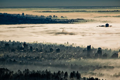 A Blanket of Atmosphere (halfgeek) Tags: morning fog vancouver clouds landscapes badge northvancouver hazy cypressmountain pleasantlytilted