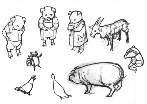 All Nighter Sketches And Drawings Of David Hahn Animal Farm