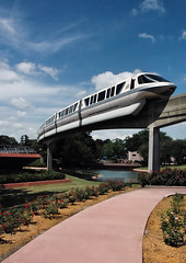 Walt Disney World Monorail in Epcot *E#189 (Craig Stevens <castevens12>) Tags: epcot ttc disney monorail wdw waltdisneyworld worldshowcase futureworld orlandoflorida canadapavilion journeyintotheimagination