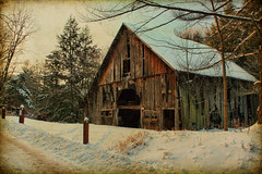 Textured Barn (N2scrapn) Tags: winter snow texture barn browncounty pse ruralindiana theunforgettablepictures