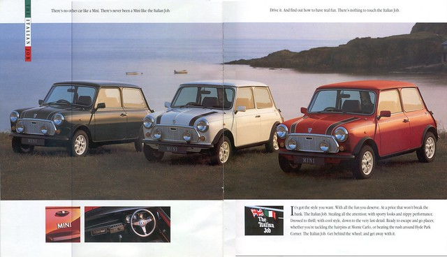 1992 Rover Mini Italian Job Brochure Second and Third Pages by twincarb1275
