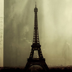 .Love the RetroParis (tg   photographer) Tags: city pink shadow red sea party people orange sun paris tree tower beach water colors leaves foglie clouds photoshop vintage circle square fun dawn leaf reflex sand tramonto nuvole waves citys