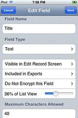 HanDBase - Edit Field