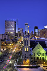 Nicollet and the City (Greg Benz Photography) Tags: night photography midwest dusk minneapolis twincities hdr urbanskyline nicollet downtownminneapolis minneapolisskyline nighthdr carbonsilver twincitieshdr minneapolisskyscrapers bestphotosofminneapolis bestphotosofthetwincities