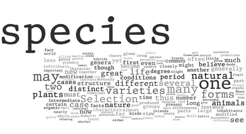 Wordle: On the Origin of Species