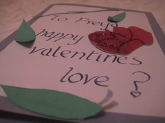 After 4 years of questioning (freyahh) Tags: red leaves rose calligraphy glitterglue valentinescard