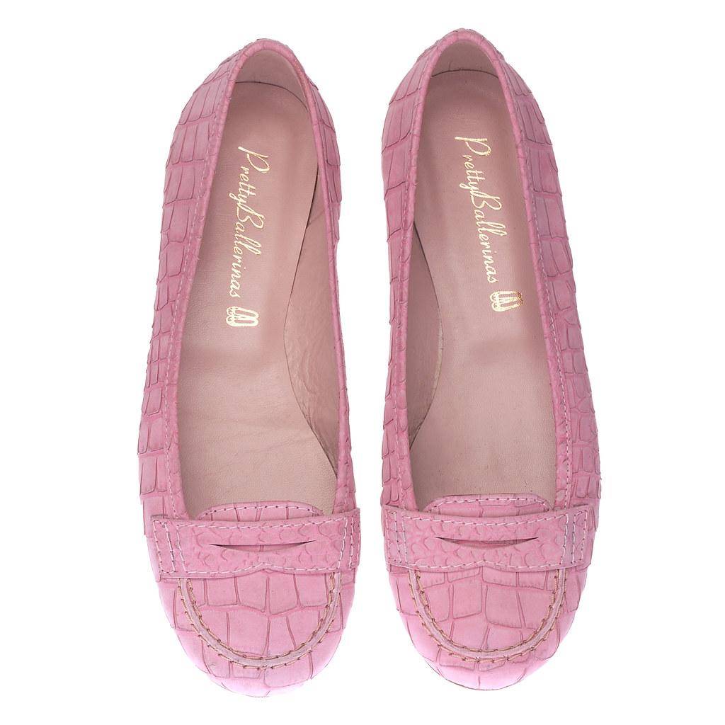 Ballet loafer pink nubuck - pair