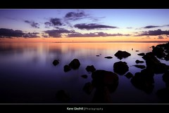 Dawn ([ Kane ]) Tags: ocean morning sea sun water clouds sunrise dawn rocks australia brisbane explore qld kane wellingtonpoint gledhill 400d kanegledhill humanhabits kanegledhillphotography