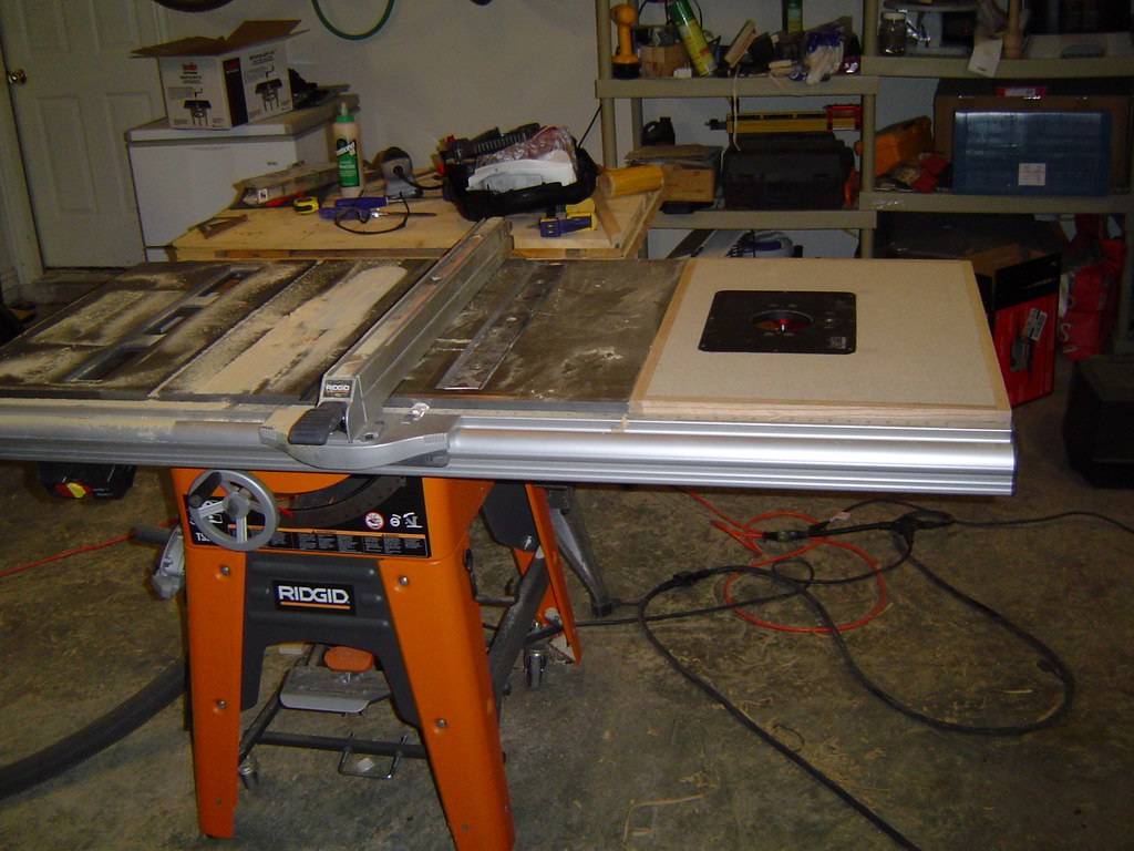 Router Table Extension - RIDGID Plumbing, Woodworking, and ...