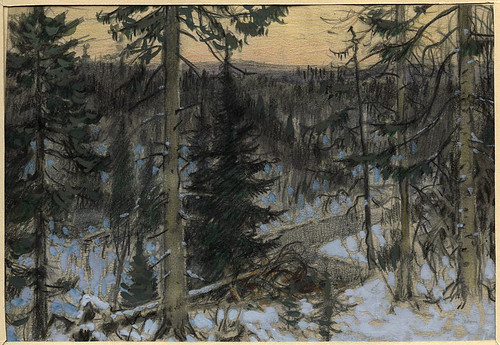 030- Crepusculo en la Taiga-Boris Smirnov 1904