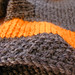 Gray and Orange Shorties - detail
