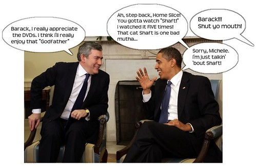 Obama and Brown Discuss DVDs