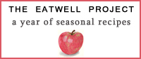 The Eatwell Project: a year of seasonal recipes -- logo by Eve Fox