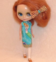 Mermaids a Swimming Upcycle Dress for Blythe