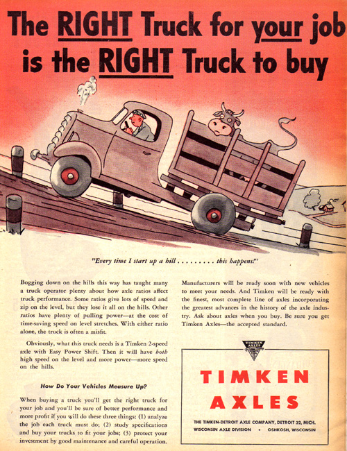Vintage Ad #771: But Is It the RIGHT Truck to Transport a Cow In?