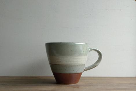 益子焼掛分けマグカップ(1)