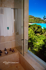 View from the Shower (Dan & Luiza from TravelPlusStyle.com) Tags: resort seychelles banyantreehotel