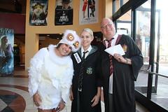 Hedwig, Draco, Harry