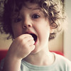Yum (Kerrie McSnap) Tags: friends boy portrait children square nikon child eating pascal d60