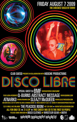 Club Queso presents Disco Libre :: Friday, August 7 at The Peacock Room, Orlando