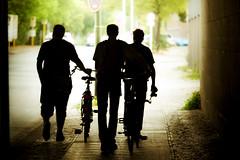 Silhouette (96dpi) Tags: berlin men bicycle silhouette three photowalk 2009 fahrrad mnner drei unterfhrung scottkelby annualphotowalk