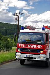 Feuer an Hochspannungsleitung Naurod 20.07.09