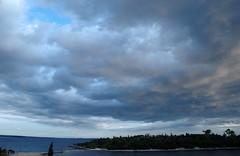 Sea, island, sky