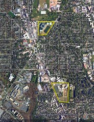 I live in between Wilson HS, top, and Sidwell, below (underlying by Google Earth; boundaries by me)