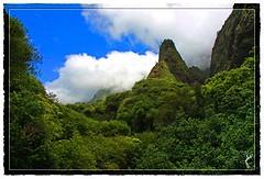IAO NEEDLE (THE WORLD Thru My Eyes photography by julie) Tags: mountains green hawaii maui needle iao iaoneedle mauihawaii
