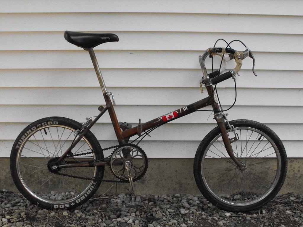 Modified folding bike.