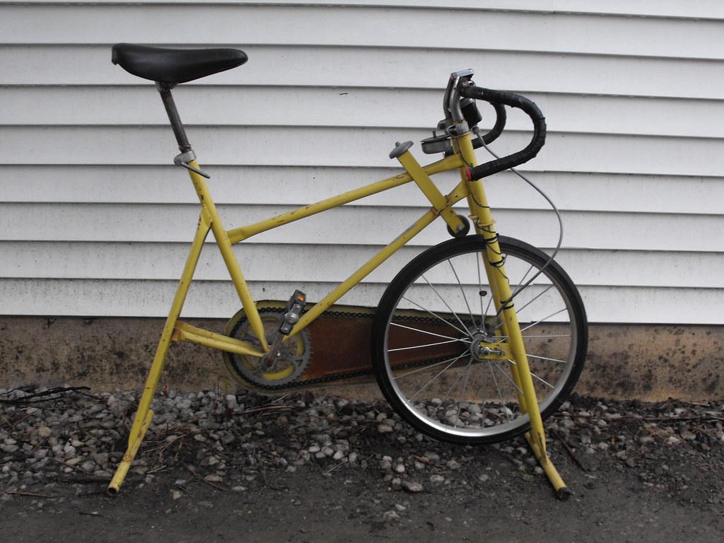 Modified stationary bike.