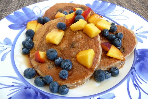 Hearty (Whole Wheat) Blueberry Pancakes