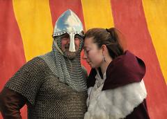 I will . . . (anniedaisybaby) Tags: costumes history helmet tent manitoba jewellery archer vikings gimli chainmail interlake cloaks historicalcostume icelandicfestival vikingvillage historicalreenactors
