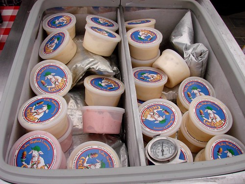 Assorted Gelato from Valley Shepherd Creamery at the Rock Center Farmers Market