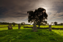 Grey Ladies Stone Circle (andy_AHG) Tags: england sky tourism archaeology weather clouds outdoors countryside rocks britain derbyshire peakdistrict fields antiquarian bronzeage stonecircle outdooractivities nikond200 landscapescenic ninestonesclose greyladies
