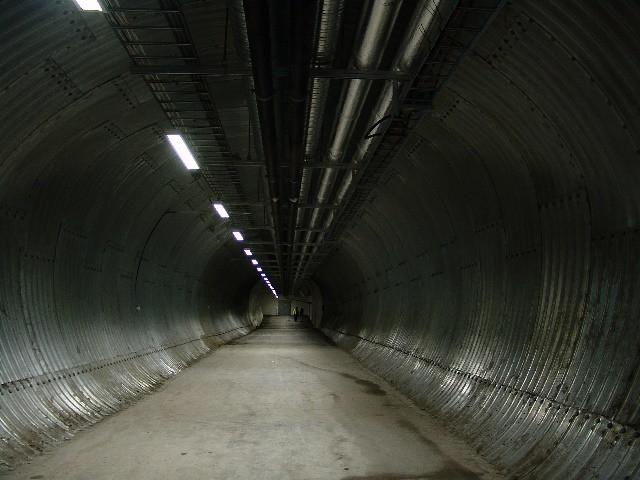 Svalbard Global Seed Vault Steel Tunnel