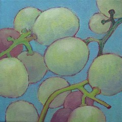 Grapes #9 (White Moon Studio) Tags: original stilllife japan painting japanese acrylic wine grape kazumi etsyrain