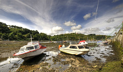 Sometimes there's a need to go with the flow (Danil) Tags: ocean uk holiday beautiful wales pembroke coast harbor boat nikon afternoon unitedkingdom daniel saturday sigma lowtide 1020mm fishguard d300 pittoresque gowiththeflow dedaniel itwassunnyday